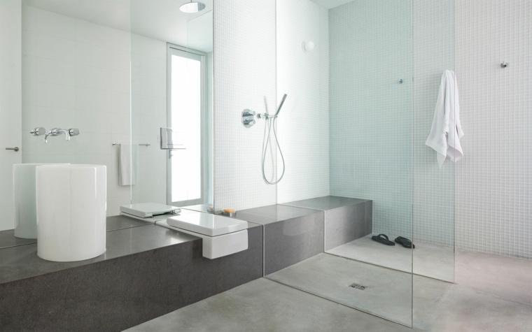 cuarto de bano minimalista moderno diseno accesorios simples ideas