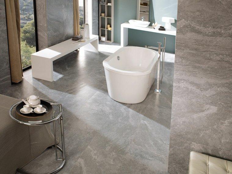 cuarto de bano minimalista moderno diseno blanco gris ideas