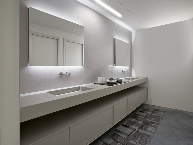cuarto de bano minimalista moderno diseno lavabo bello ideas