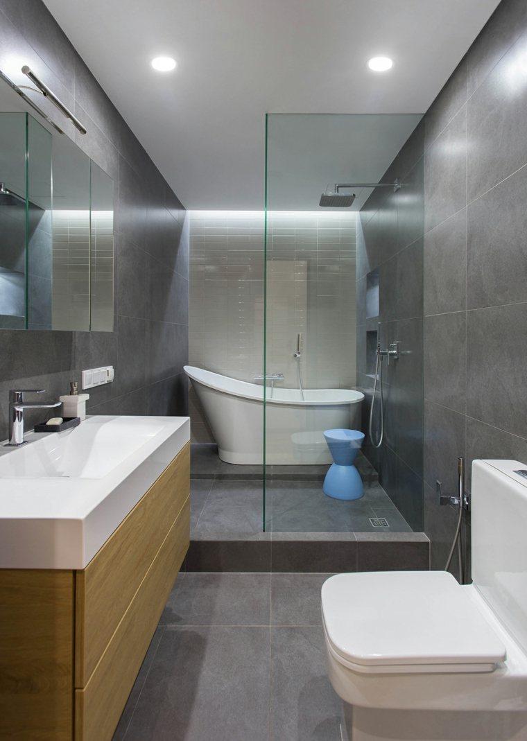 Cuarto de ba o minimalista y moderno for Diseno de una habitacion con bano