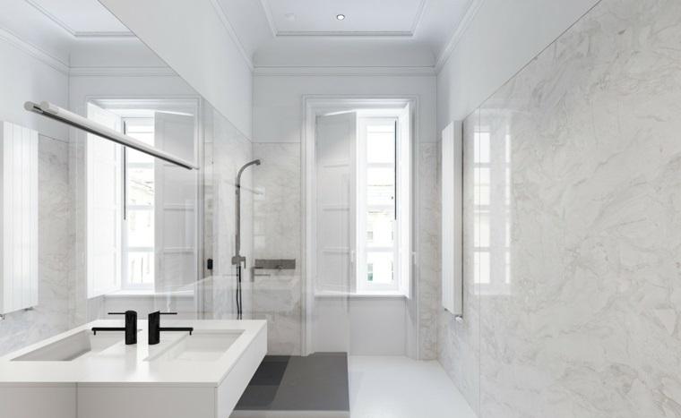 cuarto de bano minimalista moderno diseno marmol ideas