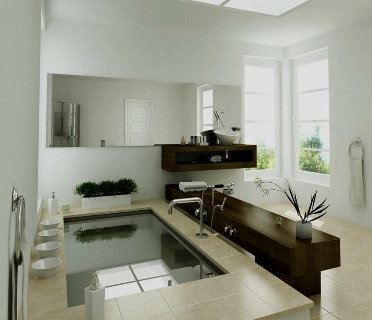 cuarto de bano minimalista moderno diseno neutro ideas
