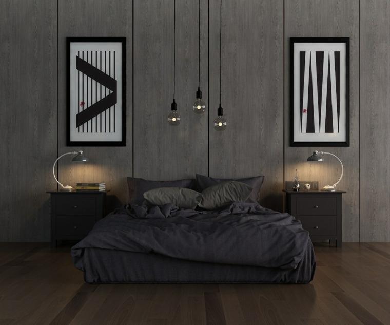 cuarto moderno pared gris