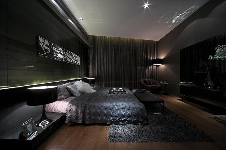 cuarto moderno habitacion oscura