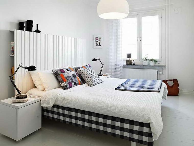 decoración cama moderna cuadros