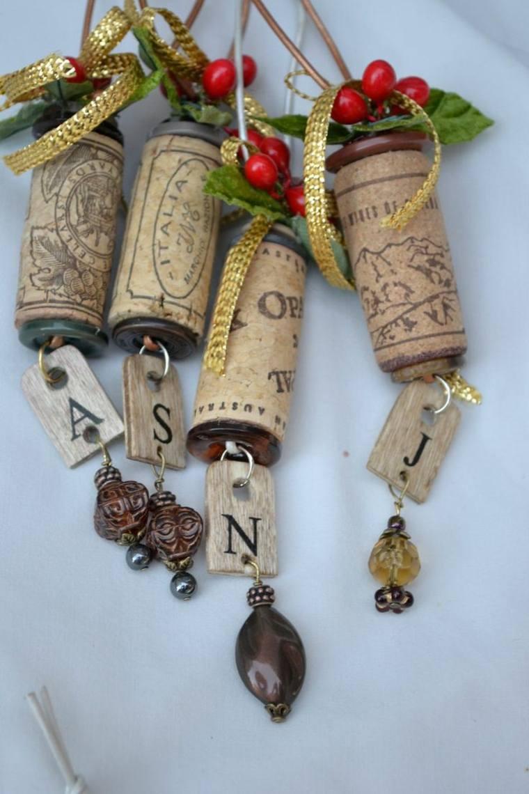decoración navidad corcho reciclado