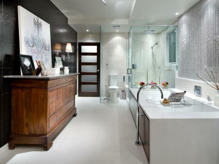 decoracion baños ideas muebles cortinas