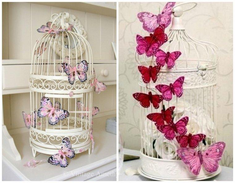 decoración con jaulas