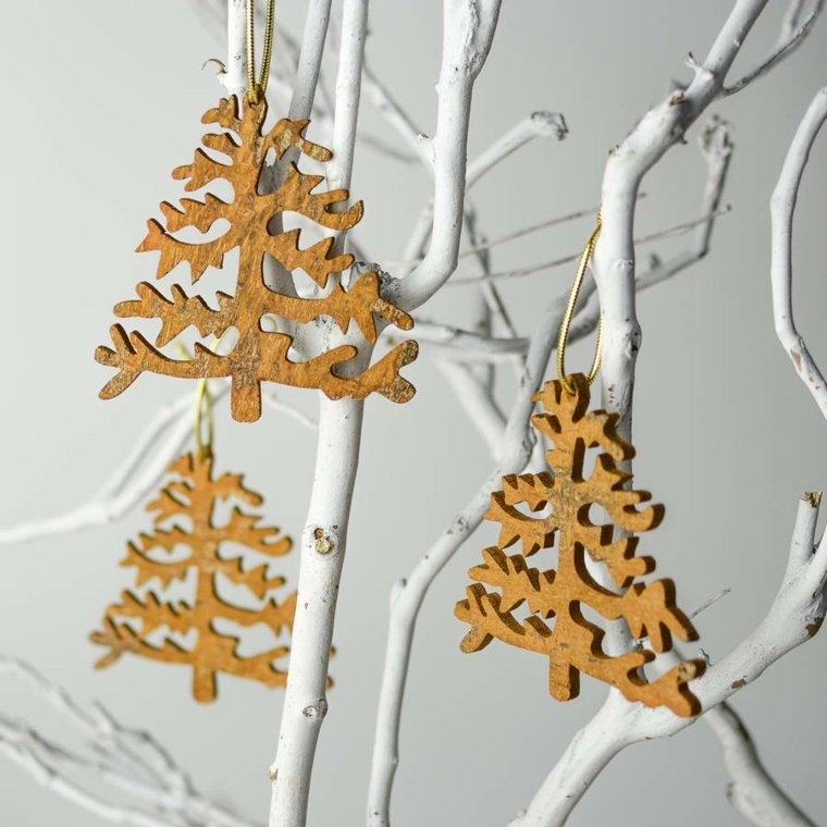 decoración con madera árbol de navidad