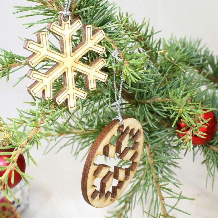 decoración con madera árbol