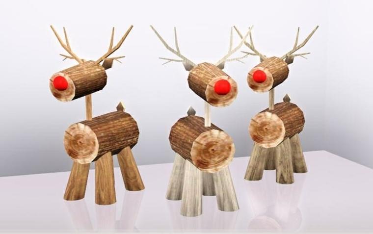 decoración con madera interior navidad