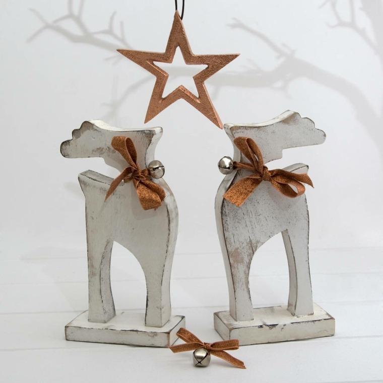 decoración con madera navidad
