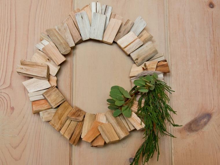 decoración con madera paredes