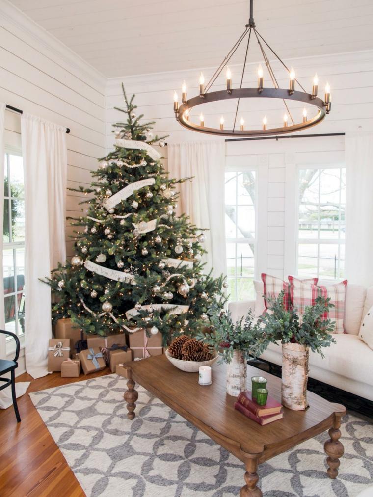 decoración de árboles de navidad casa