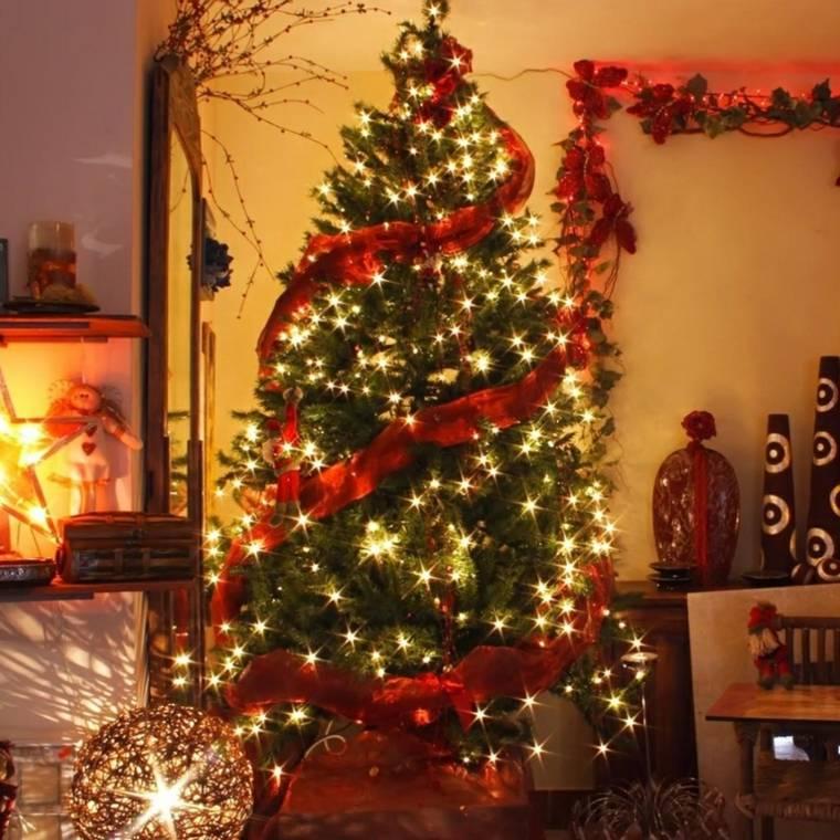 decoración de árboles de navidad elegantes interior