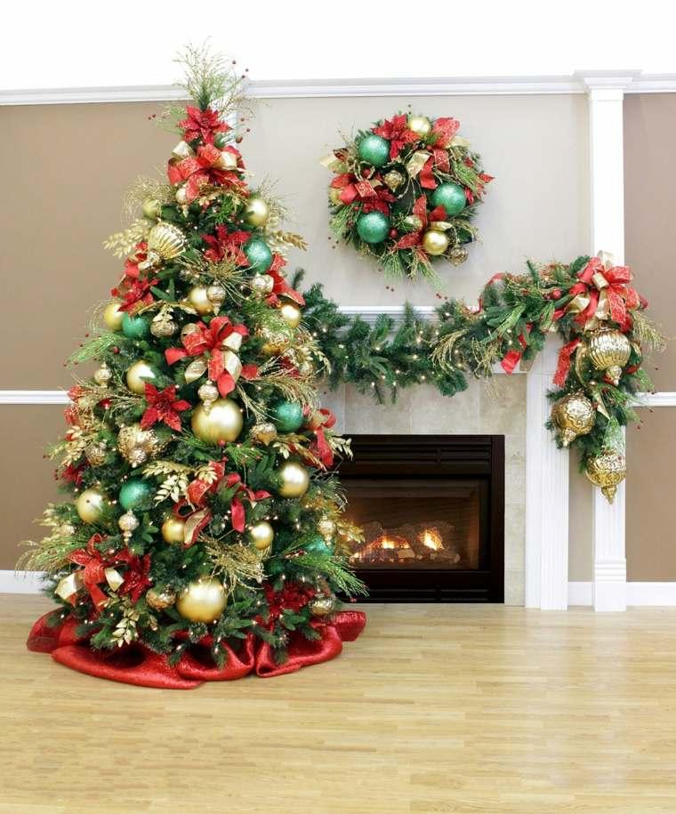 decoración de árboles de navidad sala de estar