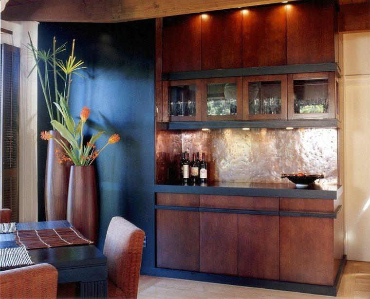 decoración de cocina cobre pared