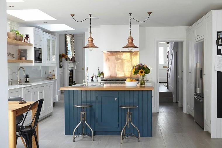 decoración de cocina cobre paredes