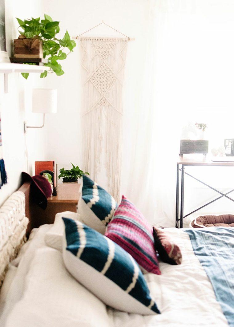 Habitaciones en blanco de estilo bohemio y boho chic - Habitaciones en blanco ...