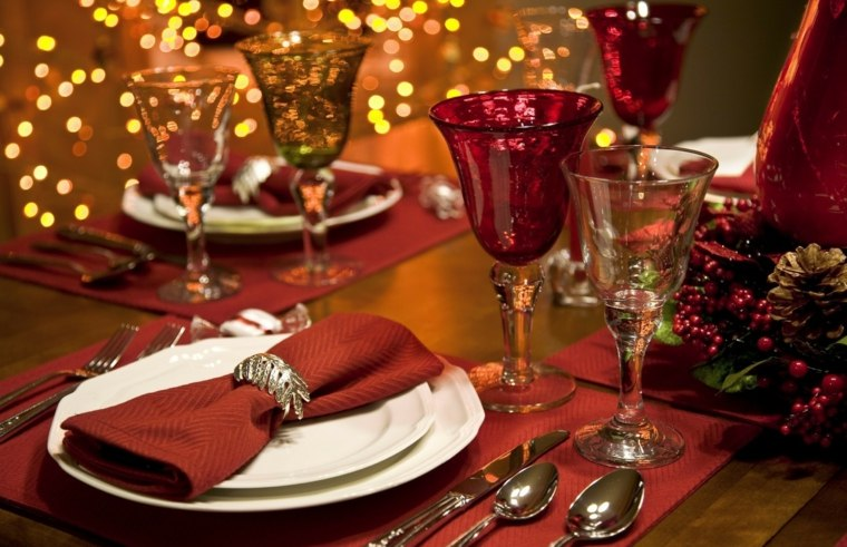 decoración de mesas año nuevo