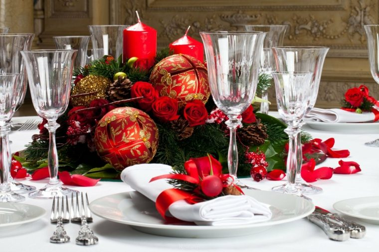 decoración de mesas clásica noche vieja