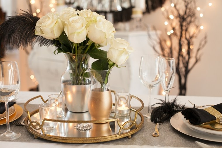 decoración de mesas clásica