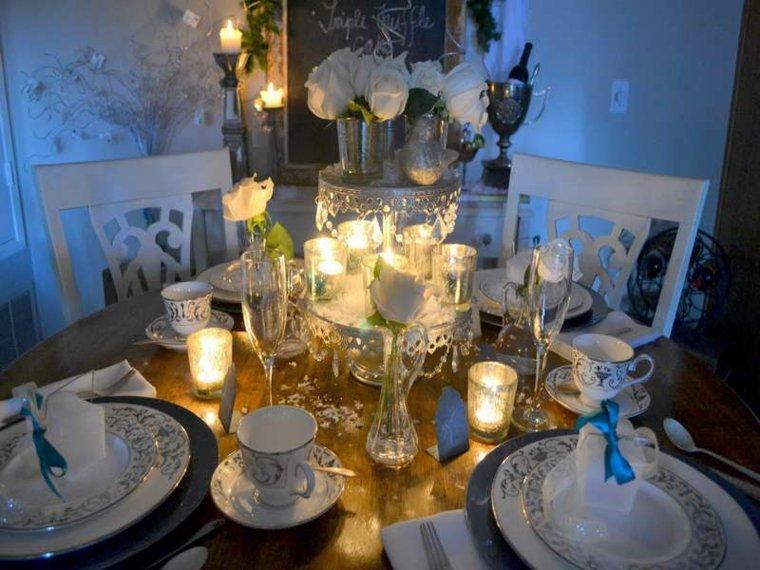 decoración de mesas fin de año