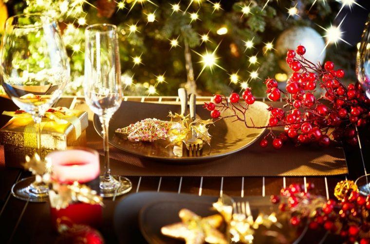 decoración de mesas navidad interior