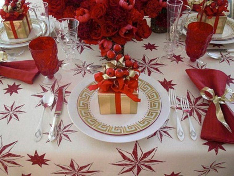 decoración de mesas para navidad interior