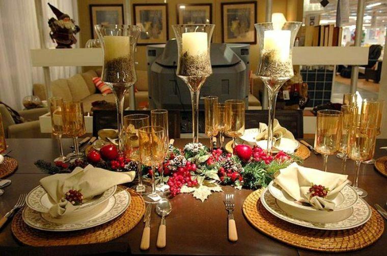 decoración de mesas velas noche vieja