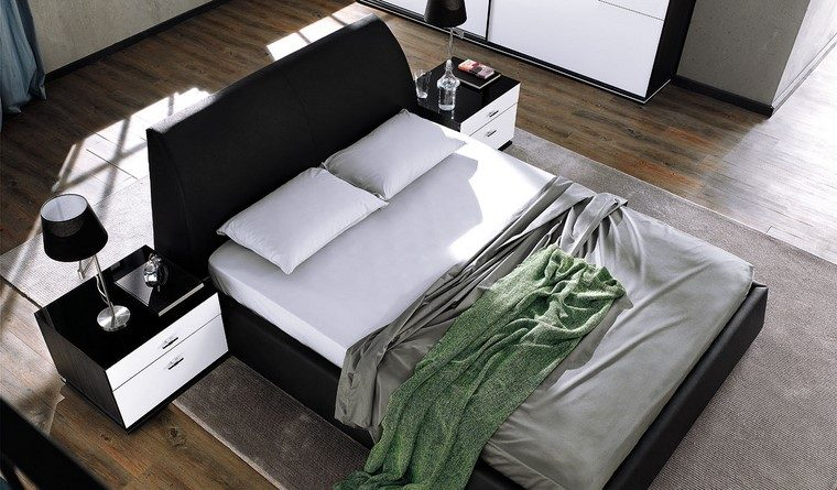 decoracion dormitorio muebles blanco negro ideas