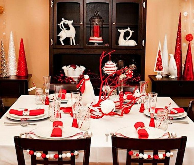 decoración en blanco rojo