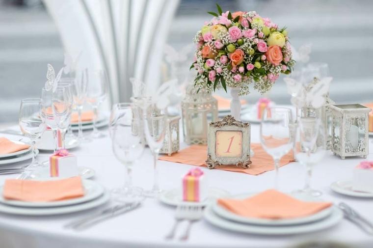 decoración floral para bodas mesa