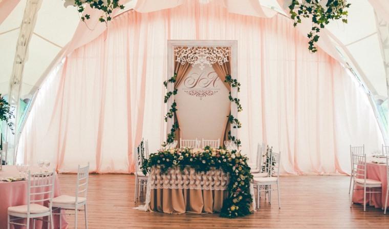 decoracion flores rosa diseno boda invierno ideas