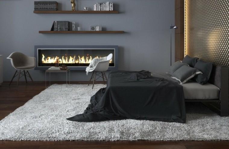 decoración habitación juvenil masculina negro