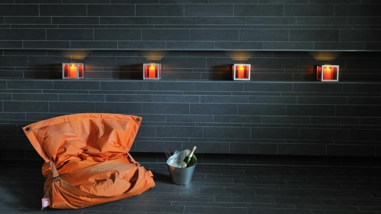 decoración moderna de interiores negros