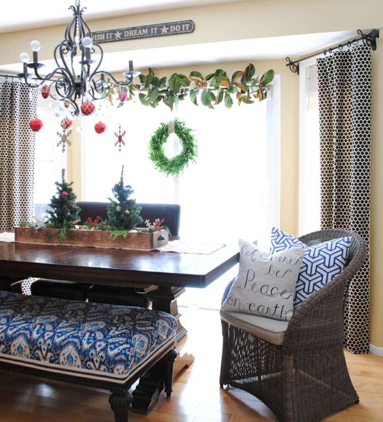 decoracion navidad salon ventanas opciones originales ideas