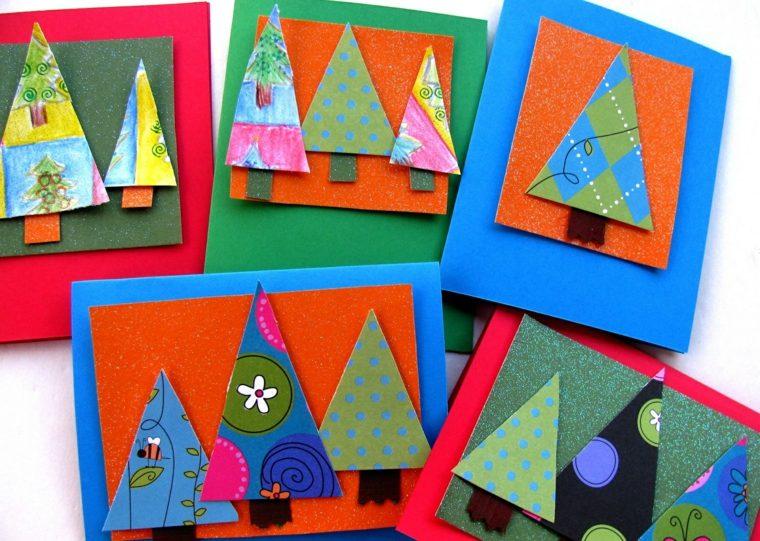 Decoraci n navide a para ni os y padres - Tarjetas de navidad hechas por ninos ...
