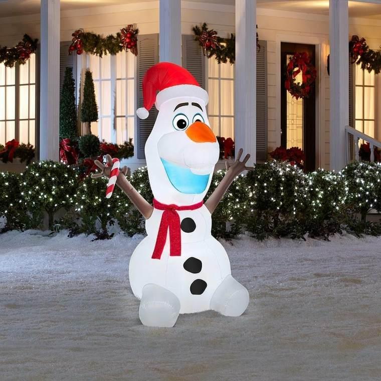 decoración navideña exterior muñecos de nieve