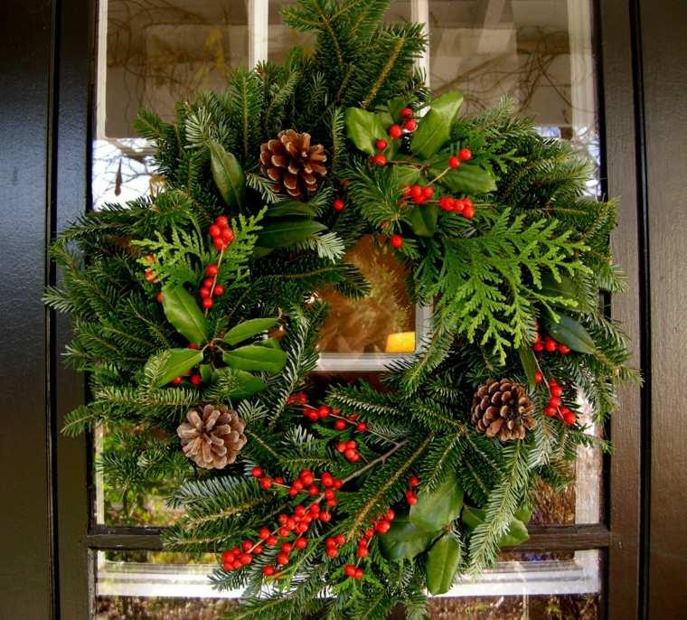 decoración navideña exterior puerta