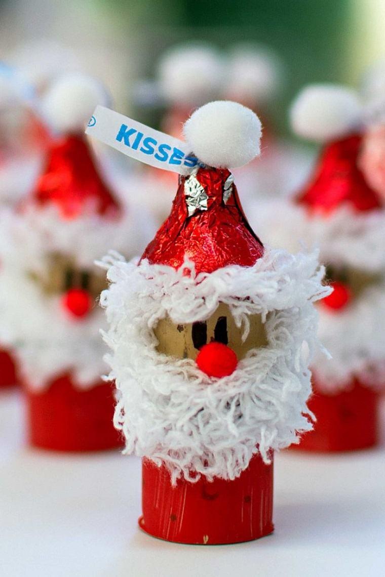 decoracion navidena papa noel corcho decoracion navidad ideas