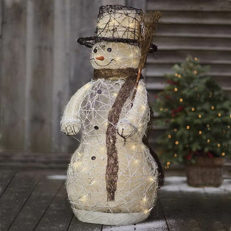decoración navideña para exterior muñeco de nieve