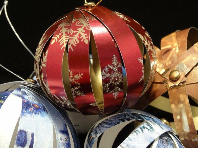 decoracion navideña reciclada bolas
