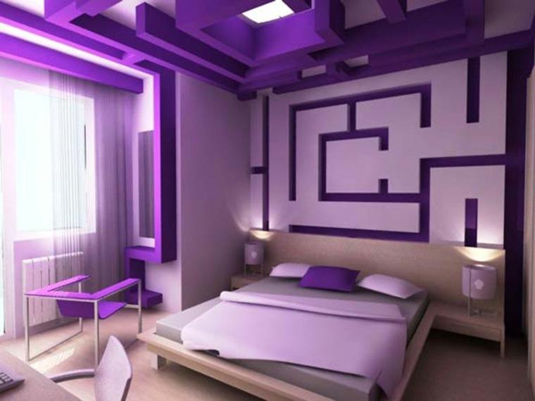 decoración para dormitorio morado