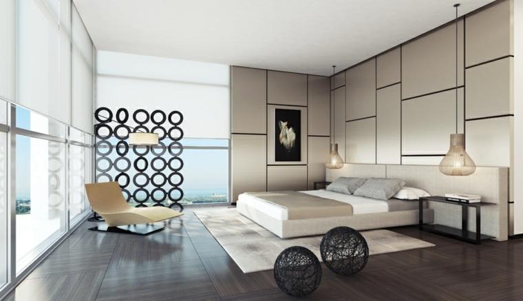 decoración para dormitorio ventanales