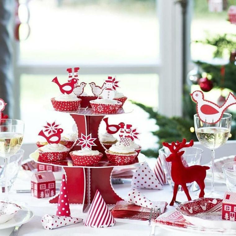 decoración para navidad blanco rojo interior