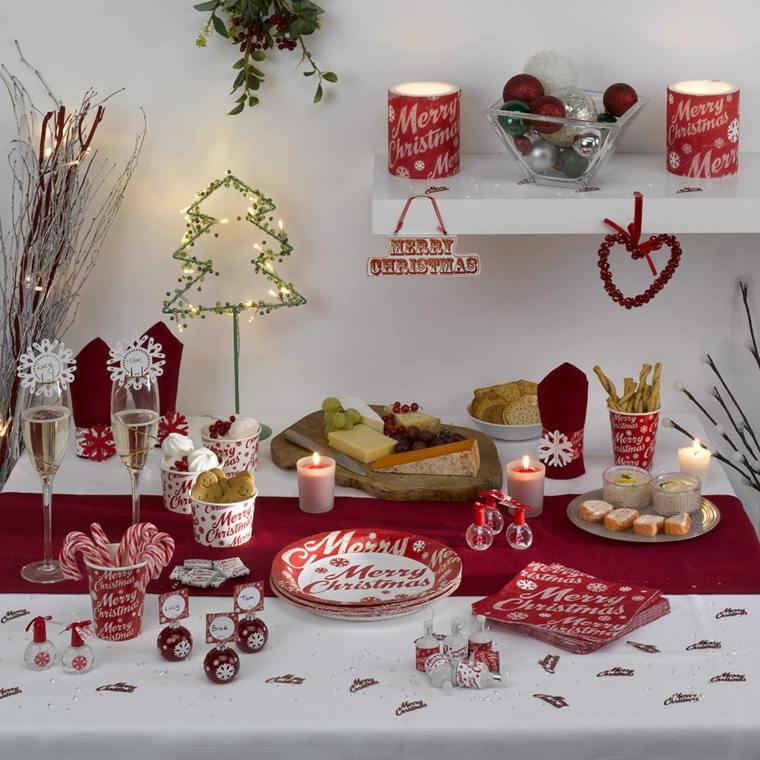 decoración para navidad mesa