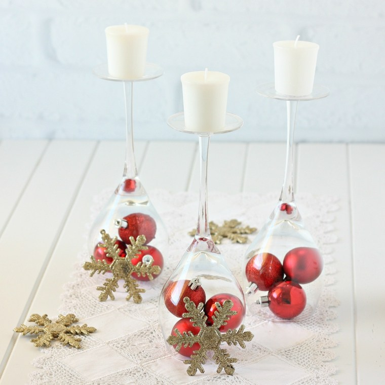 decoración para navidad rojo