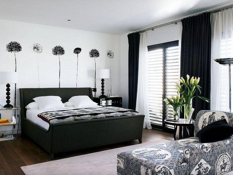 Decorar dormitorio en blanco y negro muy elegante - Decoracion paredes dormitorios ...