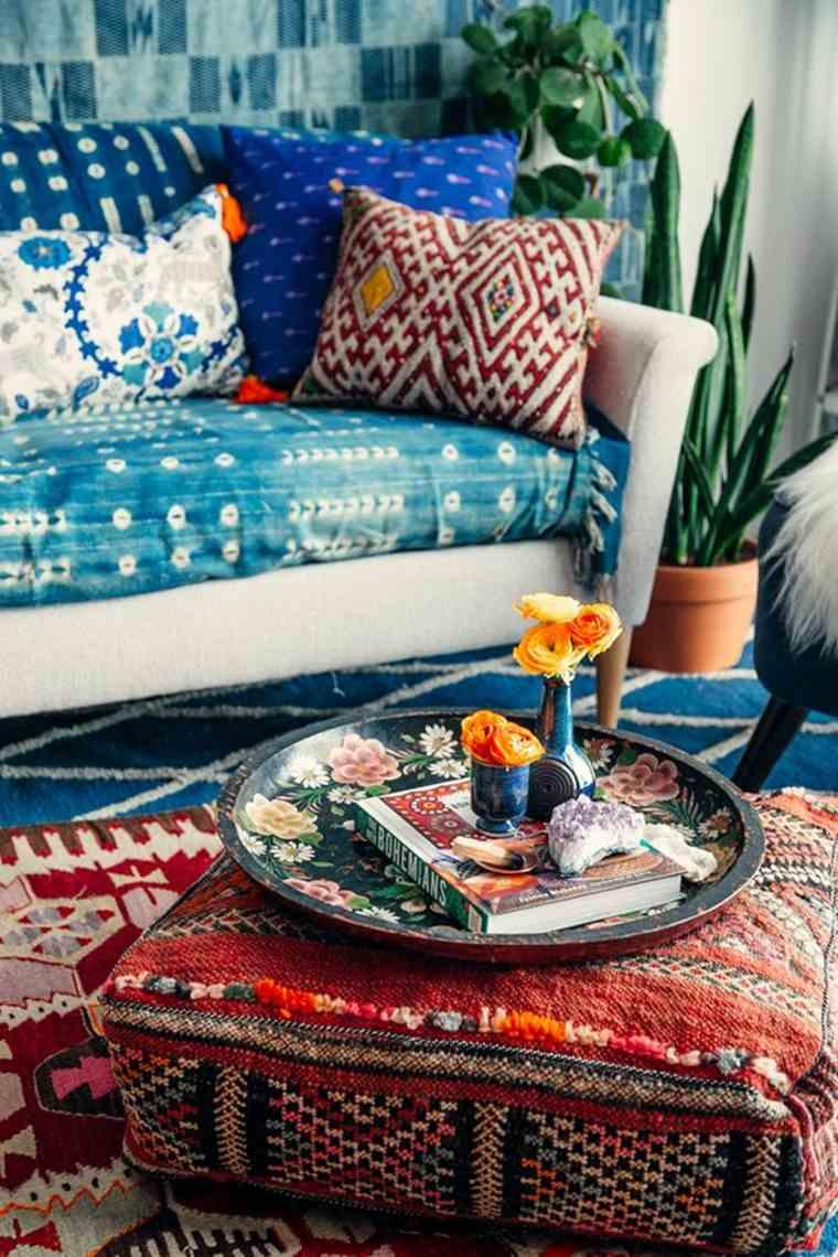 decoracion estilo étnico texturas